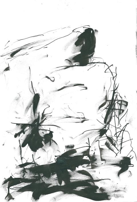 Croquis d'Yves Ribard sur place, crête d'Aucelon