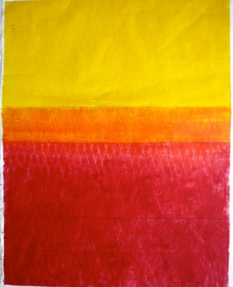 Maya Mémin, estampe 70 x 100 cm, 2014