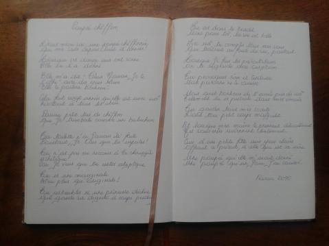 6 Cahier ouvert de Manuela à Gentilly, 17 juin 2016