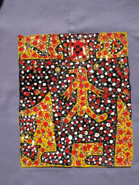 05 Peinture de Soumaïla Goco Tamboura sur métal.jpg